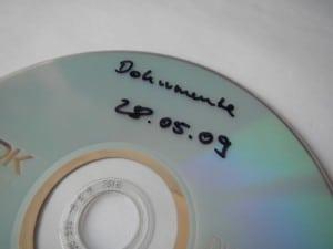 CD mit Datensicherung