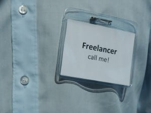 Freelancer Schild