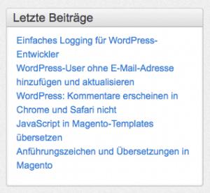 Letzte Artikel frag.webzunft.de