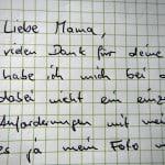 Liebe Mama Brief